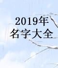 2019年名字大全