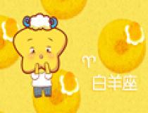 甜甜圈背景十二星座图