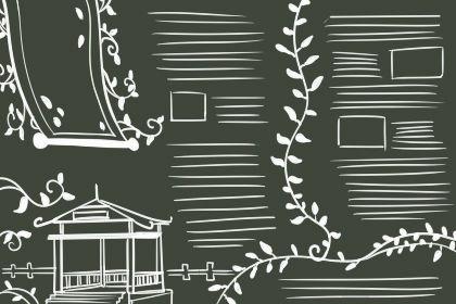 国庆70周年黑板报图片 简单素材版式大全