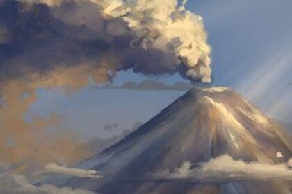 菲律宾火山喷发 发布4级预警