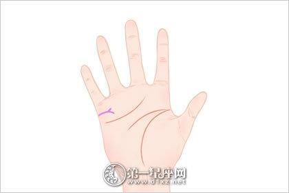 感情线分叉的手相 感情线手相图解