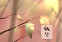 关于秋分的古诗 设立成什么节日