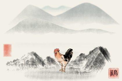 水墨国风 生肖1.0 鸡2(有字)