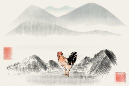 水墨国风 生肖1.0 鸡2(无字)