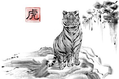 水墨国风 生肖1.0 虎1(有字)