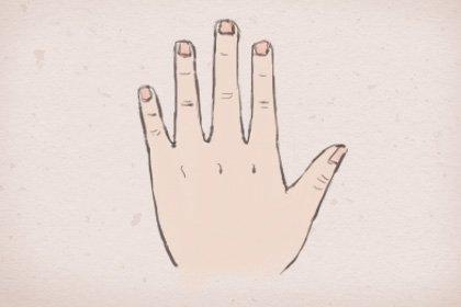 手相真正的三角纹图 三角纹在手富到九十九