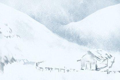 小雪节气 无字