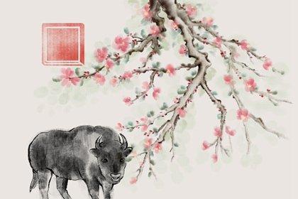 水墨国风 生肖1.0 牛1(无字)